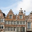 Brussels - The facade of typical houses — Stok fotoğraf