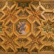 Rome - roof of basilica Santa Maria in Trastevere - Stockfoto