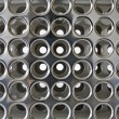 Holes - chrome background — Stock Photo #18581443