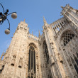 Milan - south-east part of cathedral in morning ligth - Stockfoto