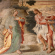 Stock Photo: Mil- fresco from church SantMaridelle Grazie - apparition of Jesus to Mary of Magdalene