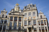 Brussels - The facade of palaces from main square in evening light. Grote Markt. — Stock Photo