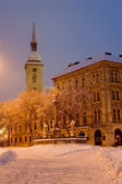 Bratislava - st. Martins dom and square in winter morning — Stock Photo