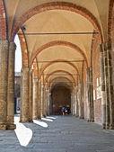Milan - atrium of San Ambrogio - Ambrosius church — Stock Photo