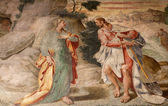 Milan - fresco from church Santa Maria delle Grazie - apparition of Jesus to Mary of Magdalene — Stock Photo
