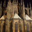Prague - st. Vitus cathedral at night - Foto de Stock  