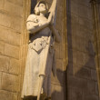 St. jane from ark - statue in Notre-Dame cathedral in Paris - Stock Photo