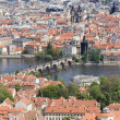 Prague - look from outlook-tower — Stock Photo