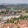 Stock Photo: Cathedral and castle in prague - look from outlook-tower