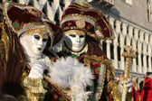 Pair from venice carnival — Stock Photo