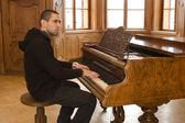 Piyanist eski kale — Stok fotoğraf