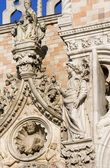 Venice - detail of facade from Doge palace — Stock Photo