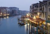 Venice - canal grande in evening — Stock Photo