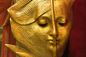 Gold leaf - mask from venice — Stockfoto