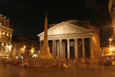 Pantheon - Rome in night — Stock Photo