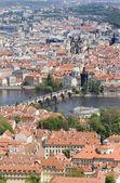 Prag - outlook-tower bir görünüm — Stok fotoğraf