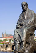 Bedrich smetana statue - prague - composer — Stock Photo