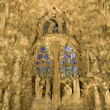 Stock Photo: Barcelon- nightly facade of SagradlFamilia