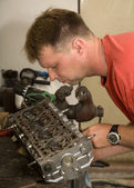 Machinist by the work — Stock Photo