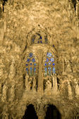 Barcelona - nightly facade of Sagrada la Familia — Foto Stock