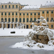 Royalty-Free Stock Photo: Vienna - Schonbrunn palace and fountain in winter