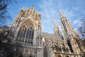 Vienna - Votivkirche neo - gothic church from south — Stock Photo