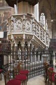 KOSICE - JANUARY 3: Neo gothic pulpit by sculptors W. Aubram and R. Argenti from Saint Elizabeth gothic cathedral on January 3, 2013 in Kosice, Slovakia. — Stock Photo