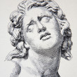 GERMANY - 1897: Litography of  bust &quot;The dying Alexander&quot; originaly form Uffizi gallery. The book &quot;Atlas zur Archeologie der Kunst&quot; published by Oskar Beck in Munchen, Germany 1897. - Stock Photo