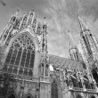 Vienn- Votivkirche neo - gothic church from south — Stock Photo #19035215