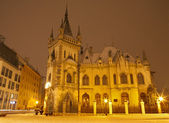 Kosice - neo gothic Jakab s palace in winter evening — Stock Photo