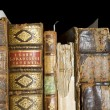 Detail of old books - Stock Photo