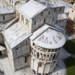 Pisa - cathedral - Piazza dei Miracoli - look from hanging tower - Stock Photo