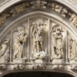 Brussels - detail of Main portal of Town hall - Grand palace - Stock Photo