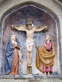 Christ on the cross from Mariazell cross way - ceramic — Stock Photo