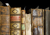 Detail of old books — Stock Photo