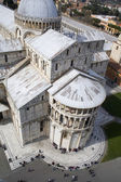 Pisa - cathedral - Piazza dei Miracoli - look from hanging tower — Stock Photo