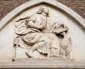 Roma - santo juan el alivio del evangelista de la fachada de iglesia de santa maria aracoeli — Foto de Stock