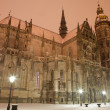 Kosice - Saint Elizabeth cathedral in winter evening. - Stock Photo