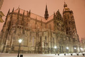 Kosice - Saint Elizabeth cathedral in winter evening. — Stock Photo