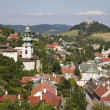Old castle and calvary in Banska Stiavnica - Slovakia - unesco monument — Stock Photo
