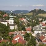Old castle and calvary in Banska Stiavnica - Slovakia - unesco monument — Stock Photo #19082015