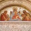 Milan - fresco of virgin Mary from main portal of San Lorenzo church — Stock Photo