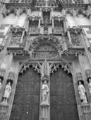 KOSICE - JANUARY 3: North portal of Saint Elizabeth gothic cathedral on January 3, 2013 in Kosice, Slovakia. — Stock Photo