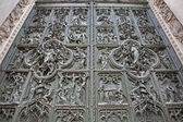 Milan - detail from main bronze gate of Duomo cathedral — Стоковое фото