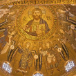 PALERMO - APRIL 8: Mosaic from cupola of Cappella Palatina - Palatine Chapel in Norman palace in style of Byzantine architecture from years 1132 - 1170 on April 8, 2013 in Palermo, Italy. — Stock Photo