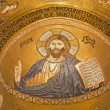 Stock Photo: PALERMO - APRIL 8: Mosaic of Jesus Christ from CappellPalatin- Palatine Chapel in Normpalace in style of Byzantine architecture from years 1132 - 1170 on April 8, 2013 in Palermo, Italy.