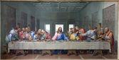 Viena - 15 de enero: el mosaico de la última cena de jesús por raffaelli giacomo desde el año 1816 como copia de leonardo da vinci de trabajo el 15 de enero de 2013 en viena. — Foto de Stock
