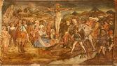 VERONA - JANUARY 27: Crucifixion by Ludwig van Schoor 1666 - 1726 in church Santa Anastasia on January 27, 2013 in Verona, Italy. — Stock Photo