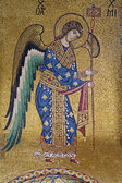 PALERMO - APRIL 8: Mosaic of Archangel Michael from Church of Santa Maria dell' Ammiraglio or La Martorana from 12. cent. on April 8, 2013 in Palermo, Italy. — Stock Photo