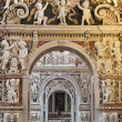 Stock Photo: PALERMO - APRIL 8: Detail from side nave in church Lchiesdel Gesu or CasProfessa. Baroque church was completed in year 1636 on April 8, 2013 in Palermo, Italy.